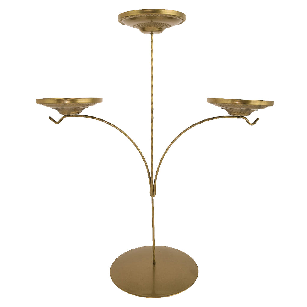 Display Stand - Triple Candle Holder - Gold
