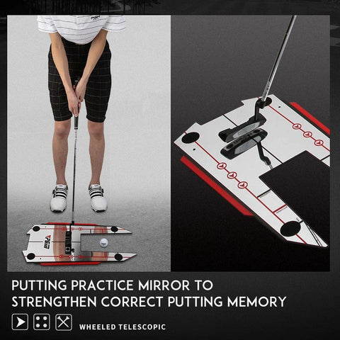 DXBRACE™ Golf Swing Trainer Mirror 4 Rods Aids Hitting Practice