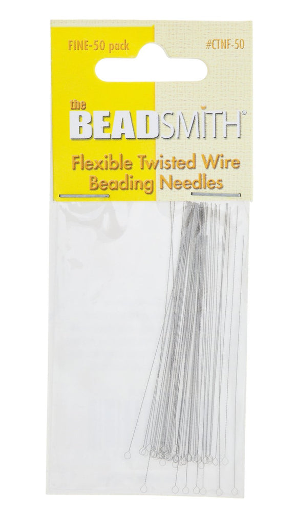 BeadSmith Flexible Fine Twisted Beading Needles (10 Pack)