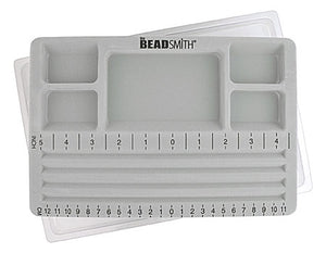 "BeadSmith Mini Travelers Bead Board w/Lid, Straight Channel - 7.75"" x 11.25"""