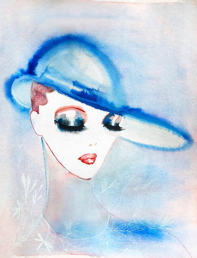 Charlotte Greeven 'Woman With Blue Hat '