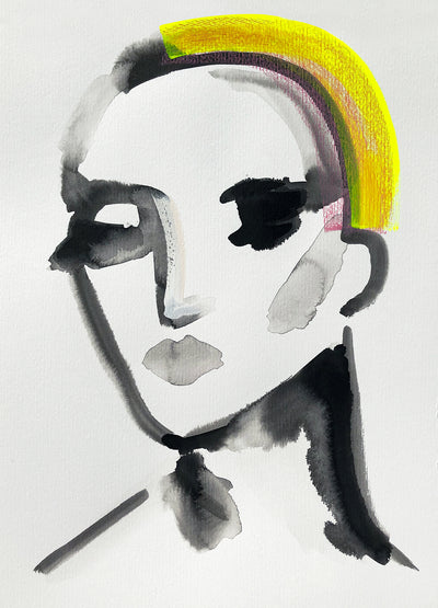 Charlotte Greeven 'Portrait with yellow hair'