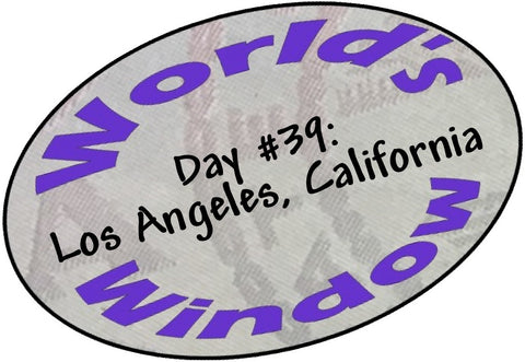 World's Window Kc Passport Stamp - Day 39 - LA, California