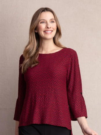 Stepping Stone Pucker Knit Top