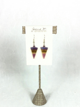 Load image into Gallery viewer, Joanie M Glass Earrings - Inverted Triangles - 12 colors