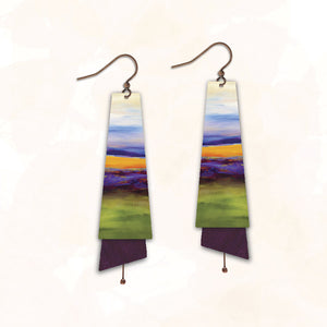 Illustrated Light Earrings - A Picture