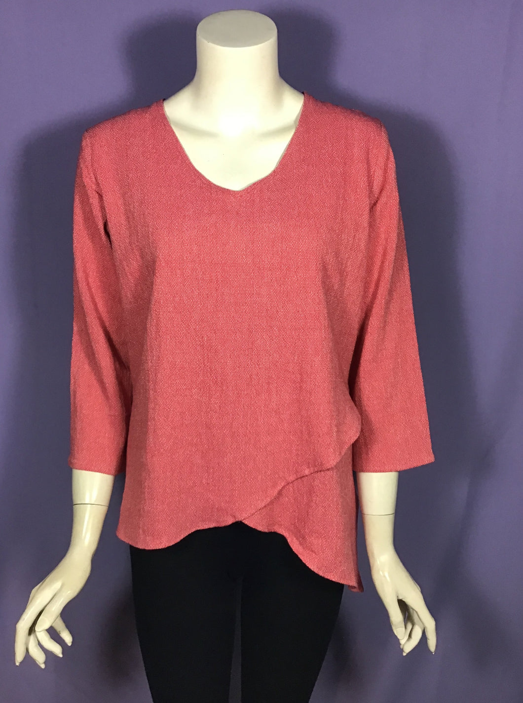 V Neck Layer Top in Watermelon