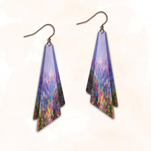 Illustrated Light Earrings - Daybreak in the Flower Garden