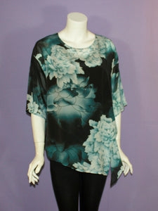 Silk Top with Long Points - Blue Hyacinth