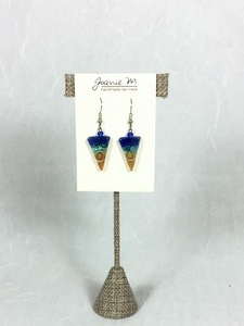 Joanie M Glass Earrings - Inverted Triangles - 12 colors