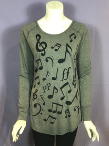 Marushka Music Note Tunic Tee