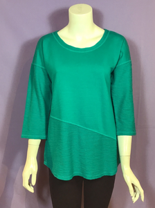 Asymmetrical 3/4 Sleeve Top