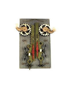 Steampunk Switchplate - Double Rack and Pinion Switch - 3 colors