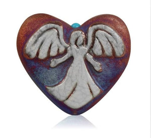 Raku Mini Heart - Angel