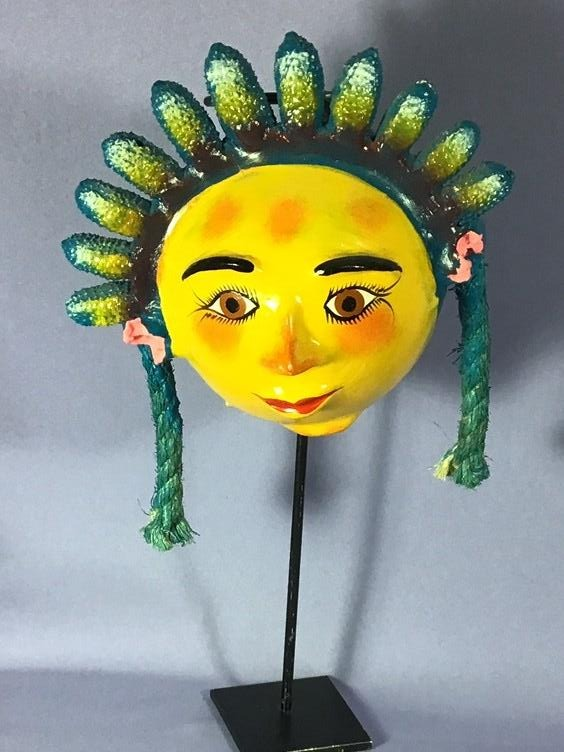 Coconut Mask - Girl with Green Crown