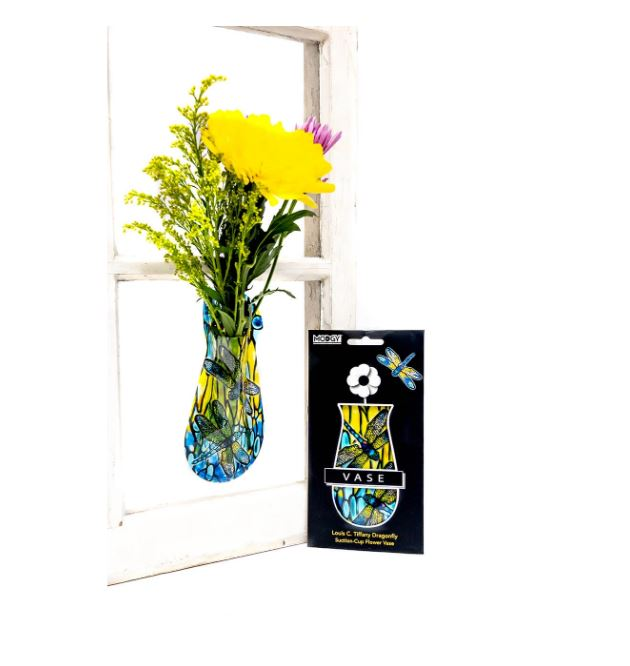 Suction Cup Window Flower Vase - Dragonfly