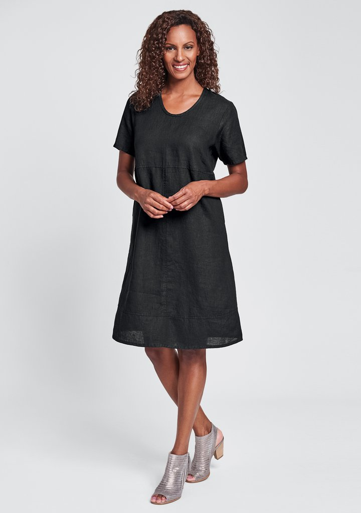 Flax Play Date Dress - Black