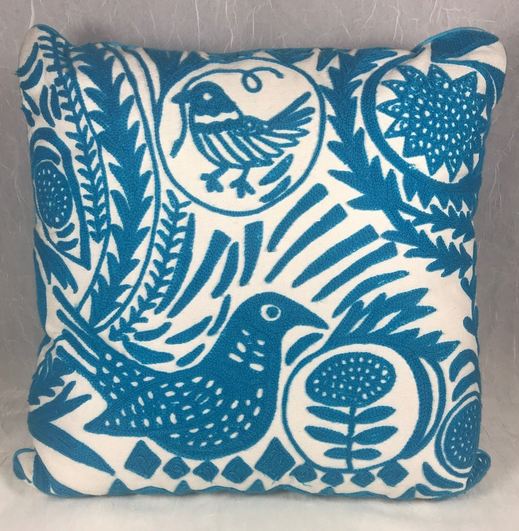 Pillow - Bird Fantasy - Blue