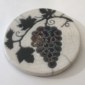 Raku Coaster - Grapes