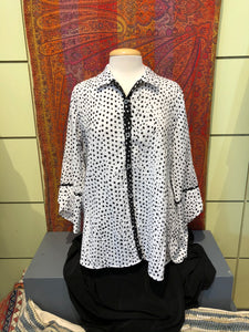 Dotted Wrap Shirt