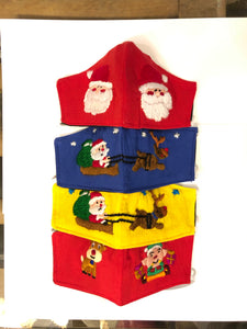Embroidered Holiday Shaped Face Masks - Child Size
