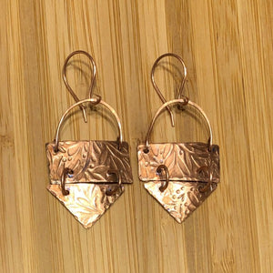 Bee Creek Designs - Etched Copper Earrings