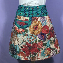 Load image into Gallery viewer, Reversible Snap Skirt - Mimisan Green/Circles