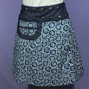Reversible Snap Skirt - Starburst/Peacock