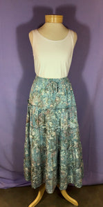 Batik 5-Tiered Skirt - Aqua Mix
