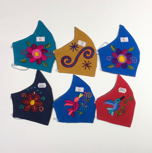 Embroidered Shaped Face Masks - Child Size