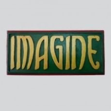 Wooden Plaque - Imagine