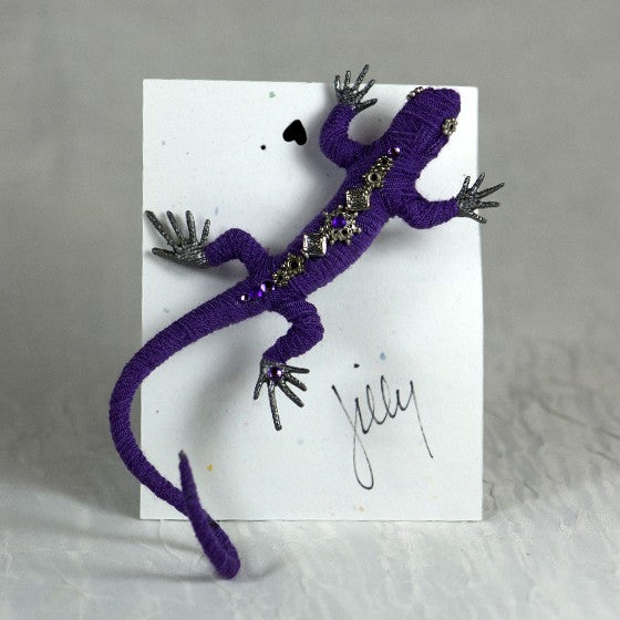 Jill Claxton Pin -Lizard-Purple