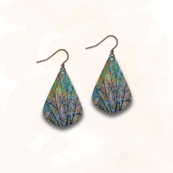 Illustrated Light Earrings - Pathways of Color