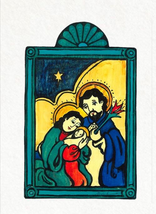 Retablo - Holy Nativity ornament