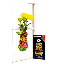 Load image into Gallery viewer, Suction Cup Window Flower Vase - Poppies