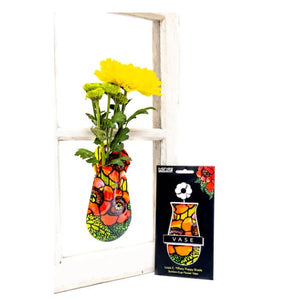 Suction Cup Window Flower Vase - Poppies