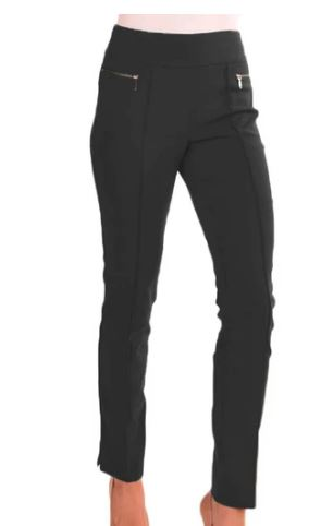 Long Pants with Faux Pockets - Carbon