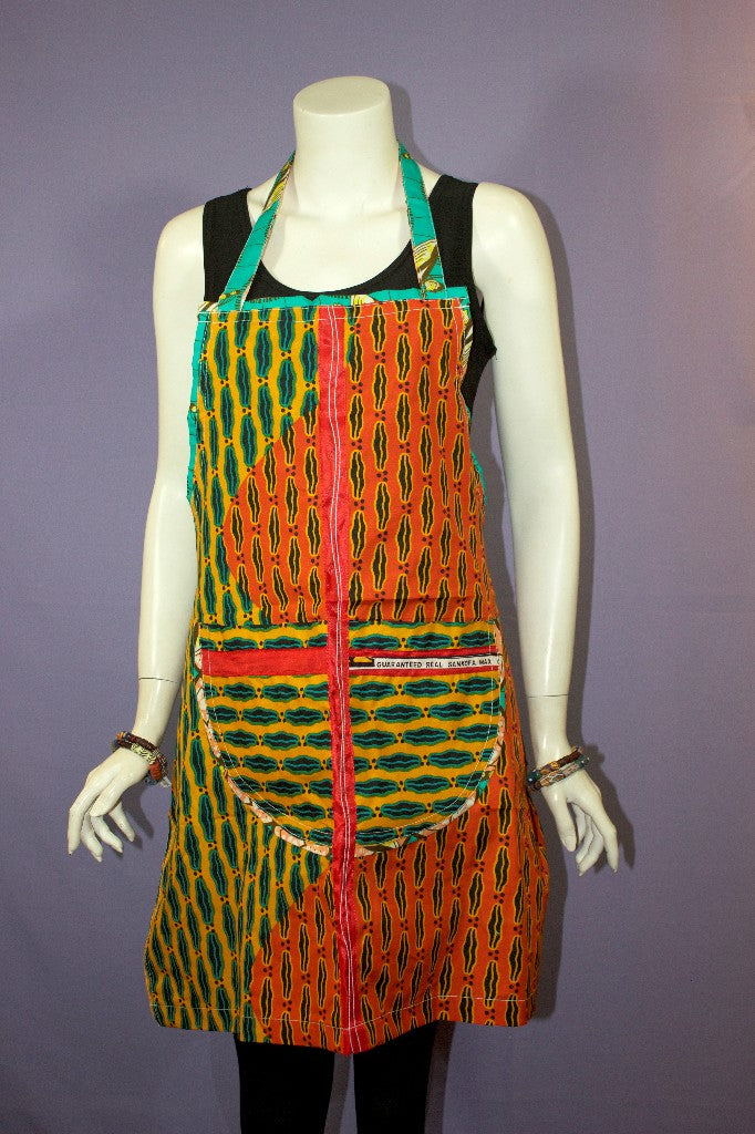 African Print Apron