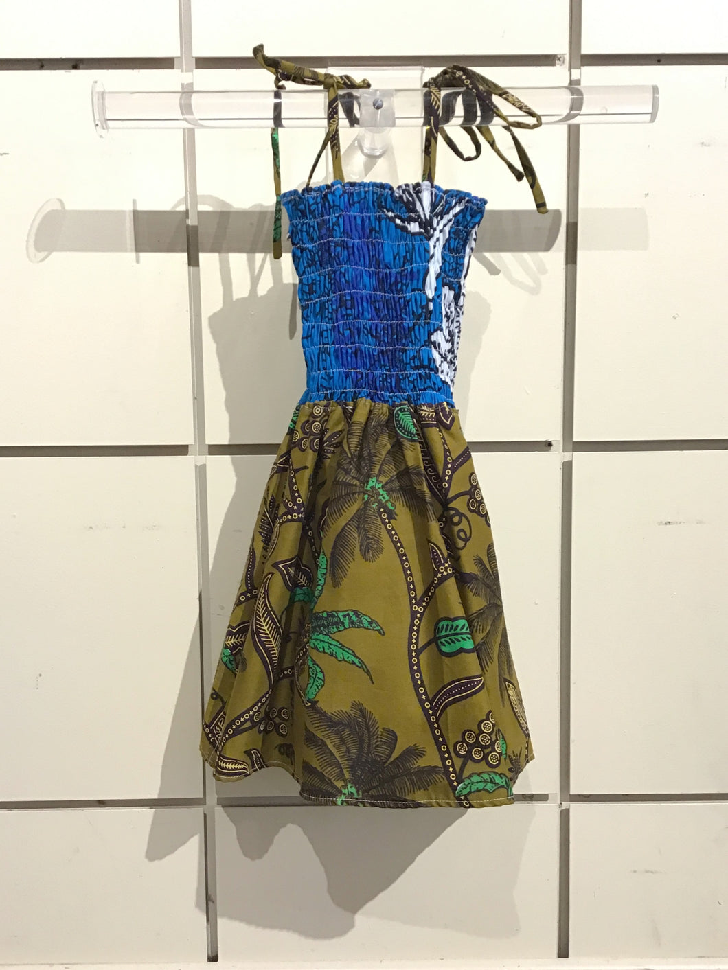 African Print Children's Dress - Toddler size 1-2