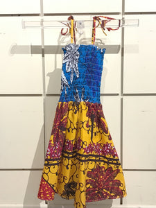 African Print Children's Dress - Girl size 2-4
