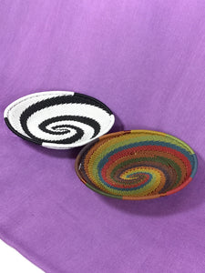 Telephone Wire Small Oval Baskets - 2 color patterns