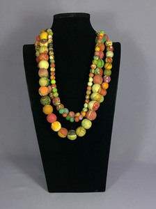 Kantha Bead Necklace - 3 Strand