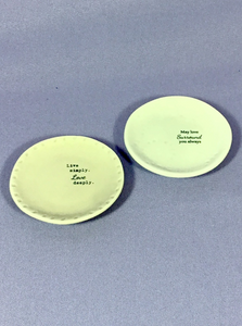 Trinket Dishes with love sentiments