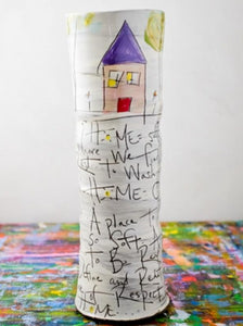 ZPots -  Tall Vase - Home Poem
