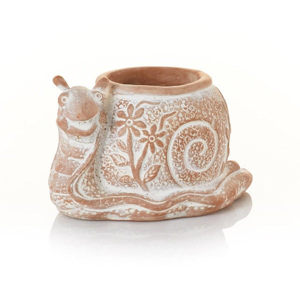 Terracotta Planter - What's the Hurry Snail