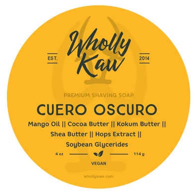 Buy Online Latest Premium Quality Cuero Oscuro Shave Soap  - The Preferred Bird