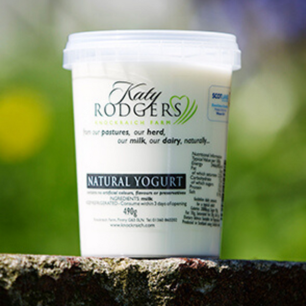 Natural Yoghurt - Katy Rodgers -Knockraich Farm - 490g