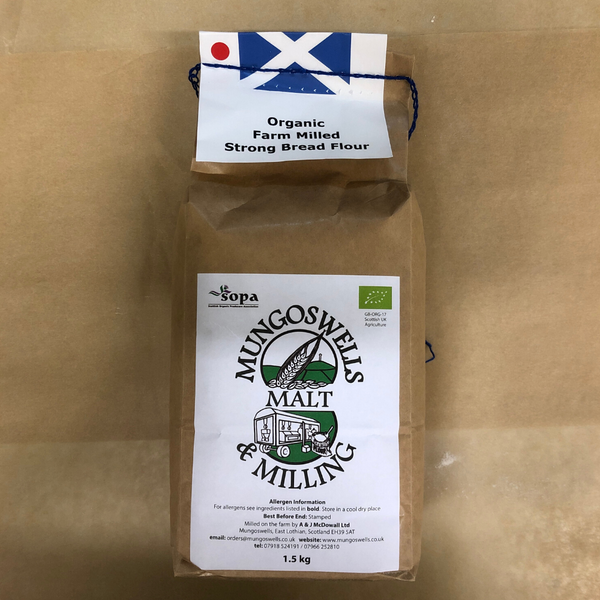 Organic Strong Bread Flour - Mungoswells - North Berwick - 1.5kg