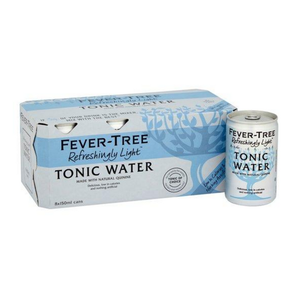 Fever Tree Refreshingly Light Tonic - 8x 150ml Cans