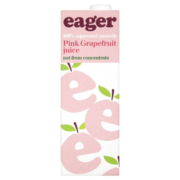 100% Squeezed Pink Grapefruit Juice - Eager - Not From Concentrate - 1L